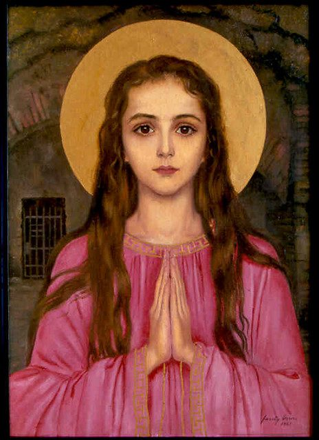 Saint Philomena Icon Painting