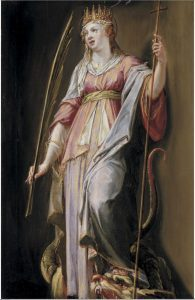 Painting of Saint Margaret of Antioch church syria