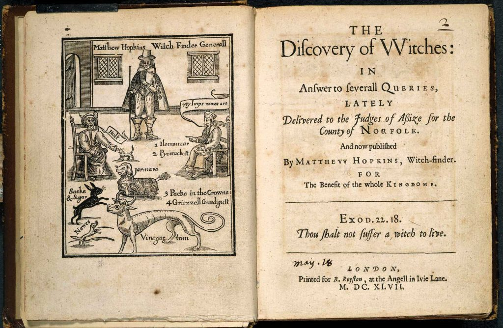 discovery of witches matthew hopkins